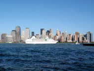 Cruise Ship Departure NY.