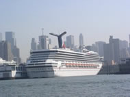 Cruise ship in NY